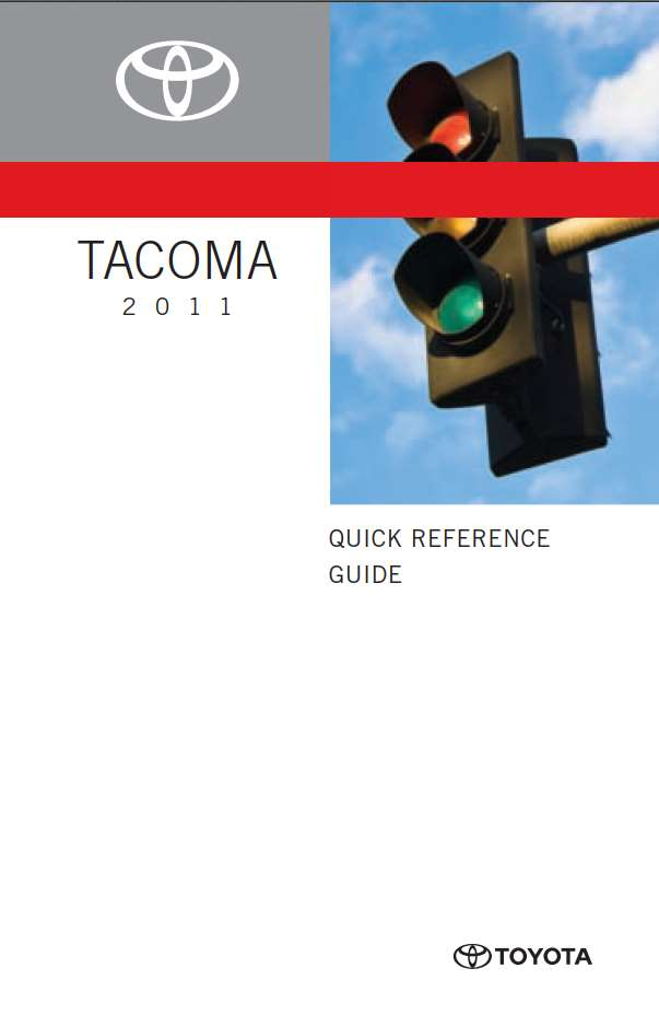 Toyota Tacoma 2011 Owner s Manual PDF Download