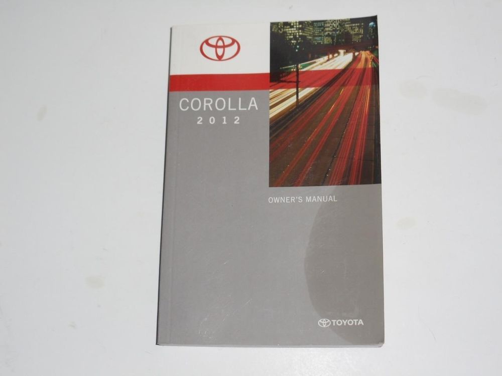 2012 Toyota Corolla Owners Manual Book With Images