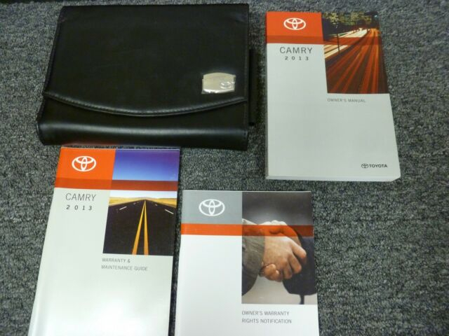 2013 Toyota Camry Hybrid LE XLE Owner Operator User Guide
