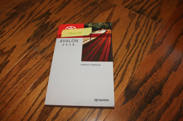 2016 Toyota Avalon Owners Manual Toy646 EBay